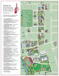 Iowa State Campus Map by Football Clinics North Central College