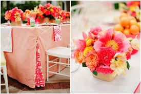 orange wedding decorations wedding table decorations some great ideas to make your wedding