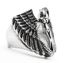 rock star rings images Large guardian angel ring ss biker rock star rings jpg
