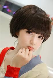 Mushroom Hairstyle Women Short Wigs Straight Mushroom Hairstyle Wig For Young Ladies