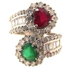 ruby emerald rings images Ruby emerald diamond double heart ring a r ullmann jpg