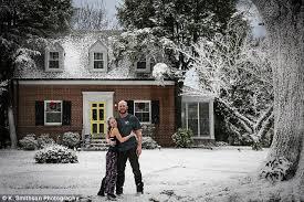 virginia man gives wife a snowy christmas morning despite 70