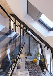 attic conversion creates a warm contemporary home with floor plans