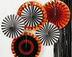 paper fan circle decorations paper fans etsy