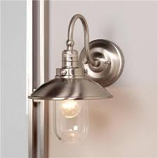 nickel bathroom wall light fixtures schooner bath wall sconce wall sconces brushed nickel and bath