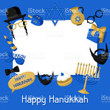 hanukkah stickers happy hanukkah frame with photo booth stickers accessories for
