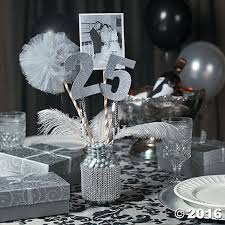 25th anniversary party jar centerpiece idea