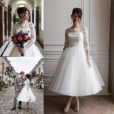 ivory lace tea length wedding dress samples ivory lace tea length