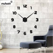 home decor wall clocks 3d home decor quartz diy wall clock decoritto decor shop