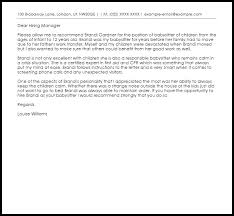 gallery of babysitter recommendation letter recommendation letters