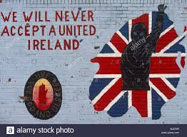 detail of a loyalist wall mural in a street off the shankhill road detail of a loyalist wall mural in a street off the shankhill road in belfast