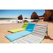Fully Reclining Beach Chair Beachcomber Reclining Beach Mats Wavez By Picnic Time Beach