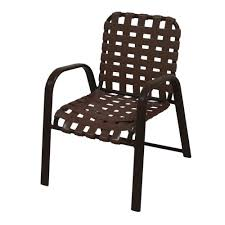 Straps For Patio Chairs by Marco Island Commercial Grade Aluminum Patio Dining Chair With