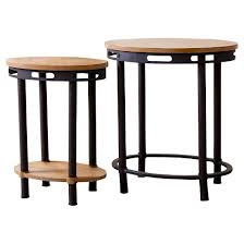 Natural Wood End Tables Northwood Industrial End Table Natural Wood Set Of 2