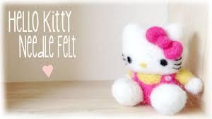 diy hello kitty needle felt plush plushie youtube