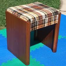 vintage singer sewing machine cabinet no 42 tweed bench stool