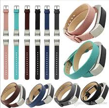double strap bracelet images For fitbit alta double tour genuine leather watch band strap jpg