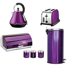 Silver Toaster And Kettle Set Matching Kitchen Set Of Four Items Toaster Kettle Bread Bin And