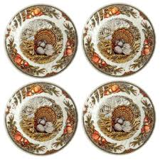 bountiful harvest turkey dinner plates set of 4 tree