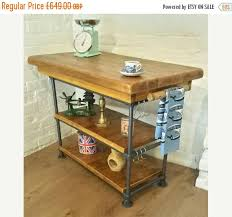 autumn sale industrial steel pipe butchers block solid reclaimed