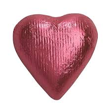 chocolate heart candy bright pink foiled solid milk chocolate hearts 3 lb bulk bag