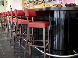bar stool red furniture black iron bar stools with back and red