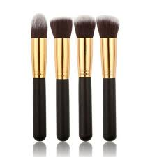2016 newly hot design makeup brush 4 pcs black synthetic kabuki flat foundation brush single makeup cosmetic brush aug15