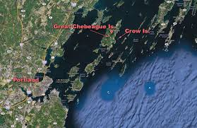 Map Of Maine Coast Fishing Boat Catches Fire In Casco Bay Maine New England