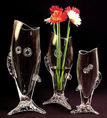 Beta Fish In Vase Decorative Centerpiece Fish Vases