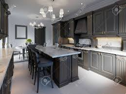 black cabinets kitchen ideas modern classic kitchen design with black cabinets and white marble