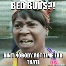 Do It Yourself Meme - bed bugs ain t nobody got time for that bedbugs funny meme