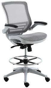 Heavy Duty Tall Drafting Chair by Harwick Evolve Heavy Duty Mesh Drafting Chair Platinum Finish