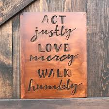 wall decor home decor home living act justly love mercy walk humbly metal sign rustic home decor farmhouse style