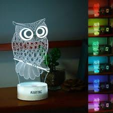 harry potter night light harry potter owl 3d led night light 7 color touch table desk art