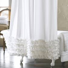 Ruffled Shower Curtains Shower Curtain