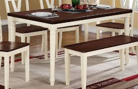 Dining Table White Legs Wooden Top White Legs Cherry Wood Top Rectangular Dining Table