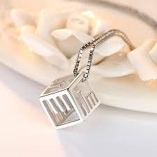 morse code necklace personalized fashion brand silver jewelry morse code necklace pendant