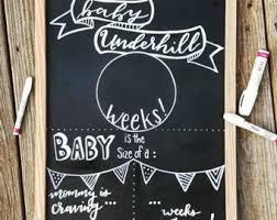 chalkboard pregnancy etsy