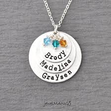 kids name necklaces necklace of 3 personalized necklace necklace 3