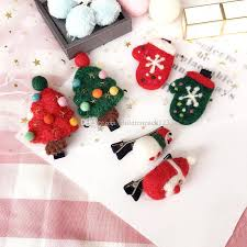 christmas hair accessories christmas hair clip baby christmas trees snowman hair