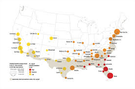 Map Of The 50 United States by Potential Zika Virus Risk Estimated For 50 U S Cities Ucar