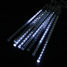 led meteor shower tube lights 30cm 8pcs 18 led white color led meteor shower rain tube lights