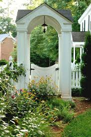 arched gates landscape traditional with secret garden wooden gate