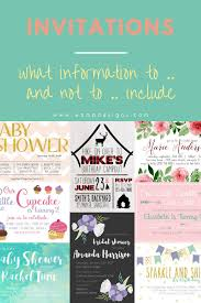 what to and not to include on your invitations wamp designs