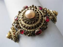 pearl bracelet ebay images 99 best vintage antique red jewelry images red jpg