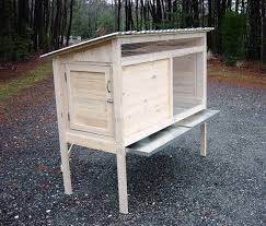 Homemade Rabbit Hutch How To Build A 5 Ft Rabbit Hutch Diy Wood Plans