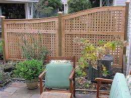 Privacy Screen Ideas For Backyard by Stylish Lattice Privacy Panels With Curved Fence Top Great Option