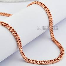 rose gold chain necklace images 5mm fashion jewelry mens womens double curb cuban link chain 18k jpg