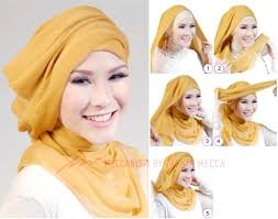 tutorial hijab turban untuk santai simple but i think it s suitable for party hijab tutorial