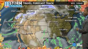 weather for thanksgiving thanksgiving travel weather forecast for western central u s